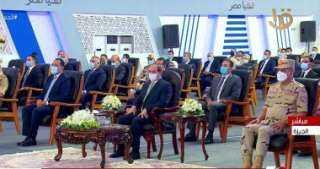 """الرئيس السيسي: """"أنا مش بشوف اللى اتعمل فى بلادنا.. بشوف اللى لسه هيتعمل"""""""